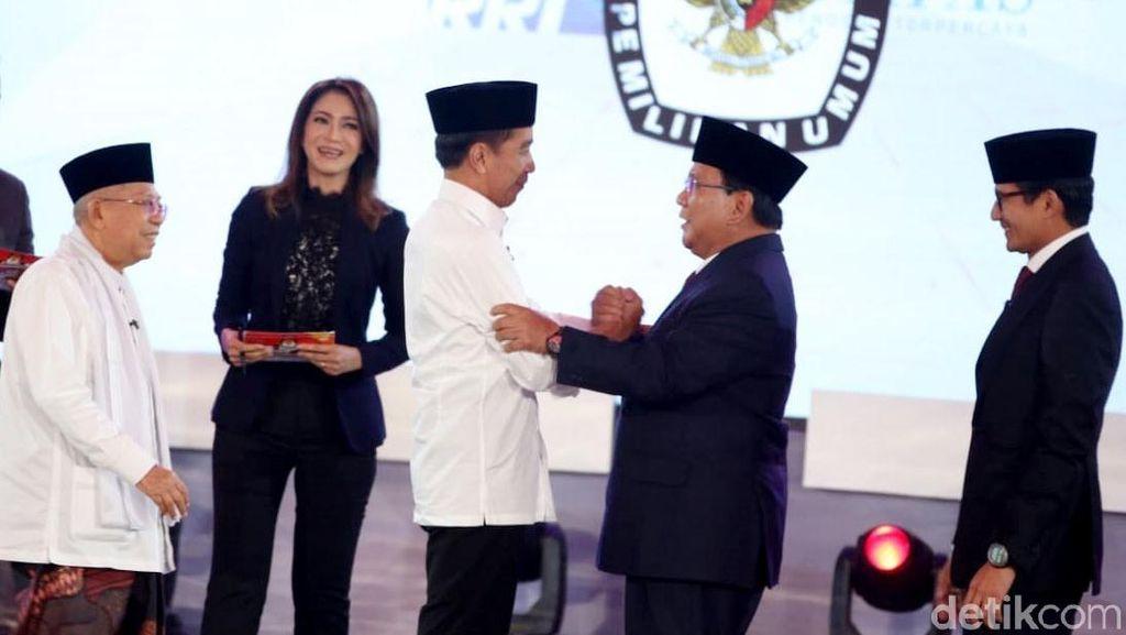 #01UnggulDebat hingga #PrabowoSandiMenangDebat Trending di Twitter