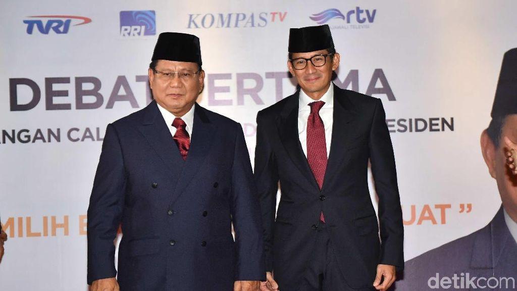 Adu Gaya Jokowi-Maruf dan Prabowo-Sandi di Debat Perdana Capres 2019