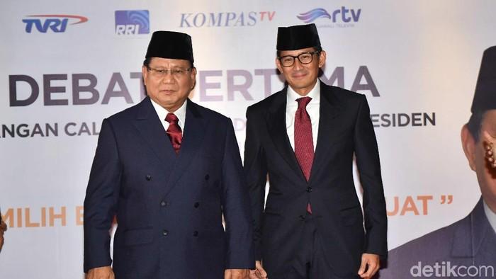 Prabowo Subianto-Sandiaga Uno (Aprillio Akbar/Antara Foto)