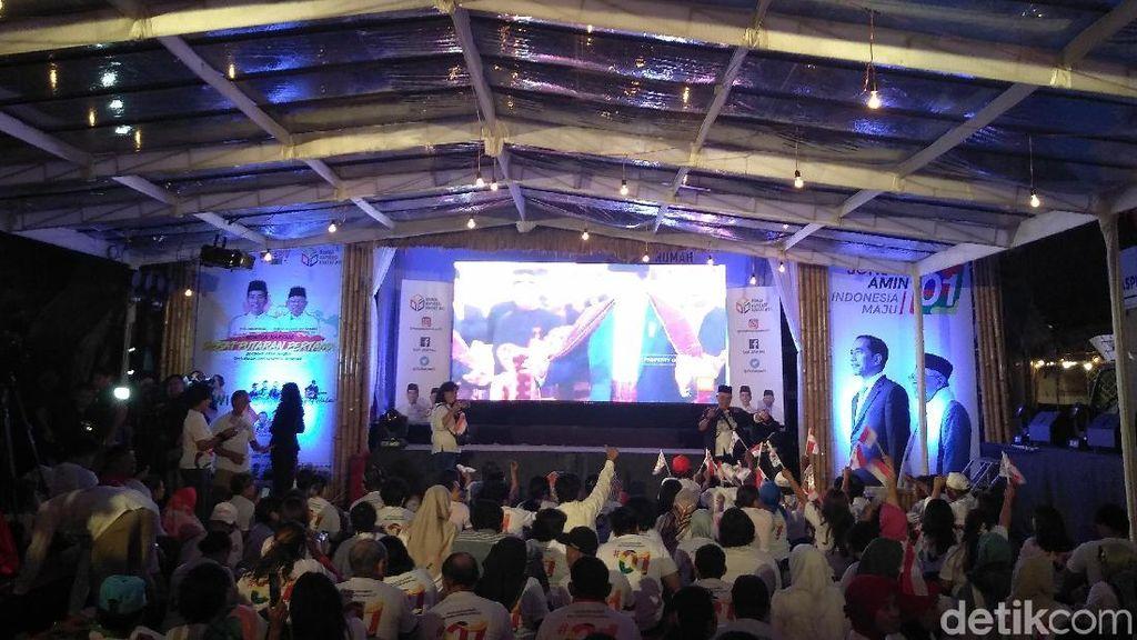 Sekjen Parpol Koalisi Jokowi Nobar Debat Capres di Rumah Aspirasi