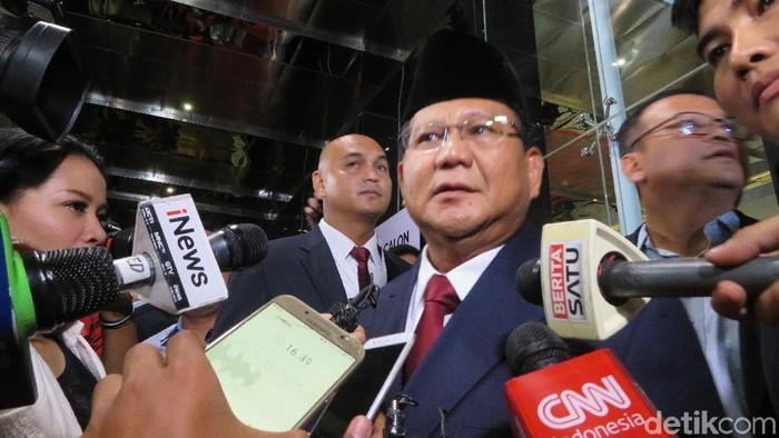 Prabowo Subianto (Noval Dhwinuari Antony/detikcom)