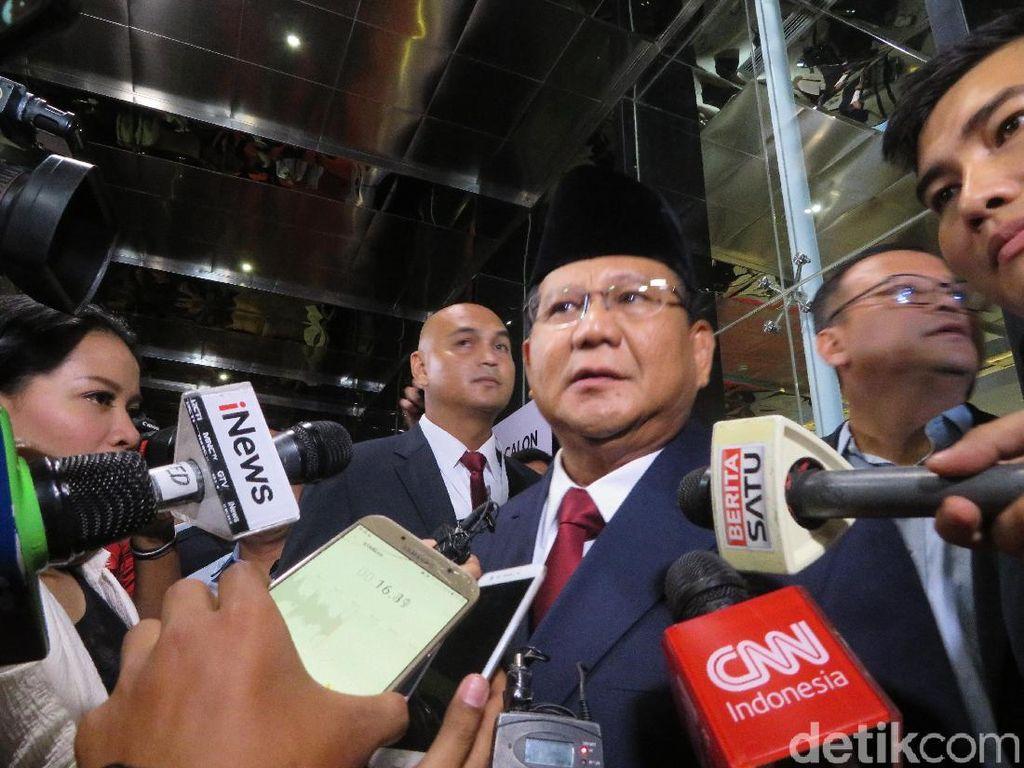 Prabowo Usai Debat Capres 2019: Tegang Juga Aku