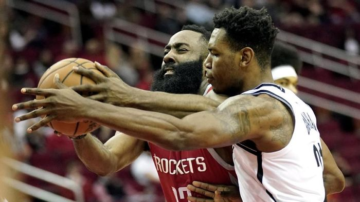 Houston Rockets dikalahkan Brooklyn Nets (AP Photo/David J. Phillip)