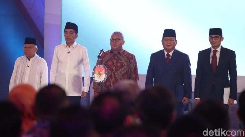 Elektabilitas Jokowi-Maruf vs Prabowo-Sandi di 5 Survei Jelang Debat Cawapres