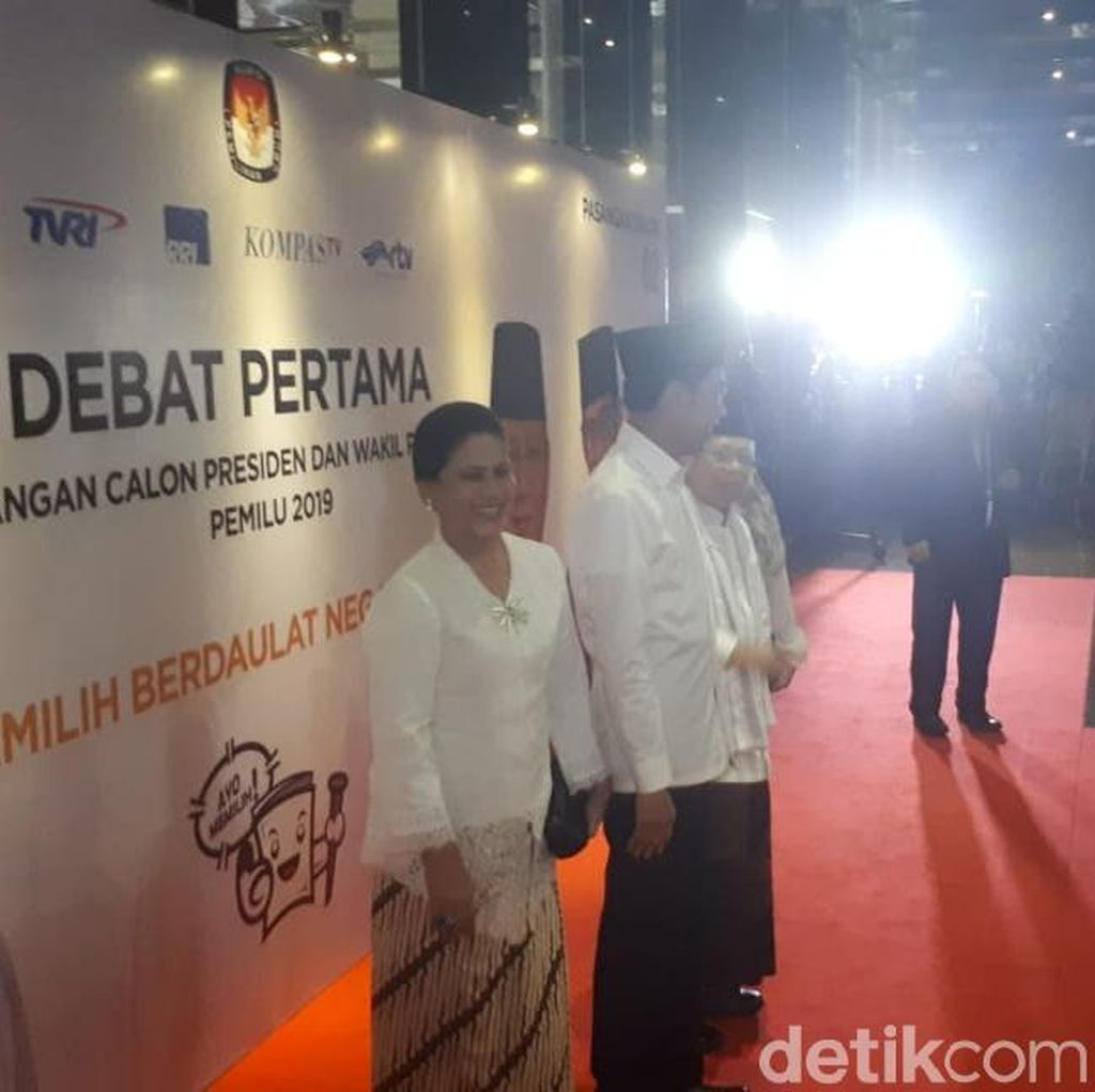 Jokowi-Maruf Amin Tiba di Lokasi Debat Capres
