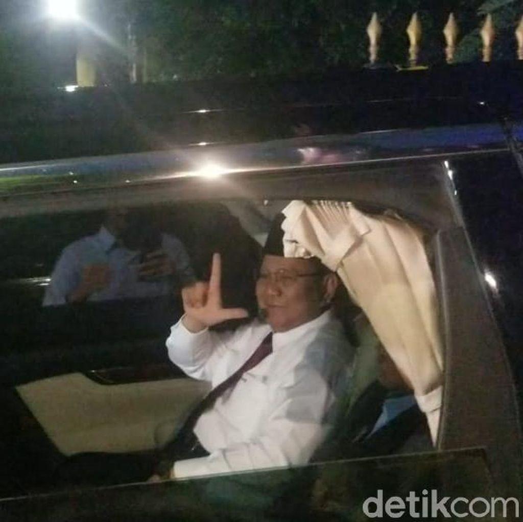 Tiba di Kertanegara, Prabowo: Terima Kasih, Saya Mau Istirahat