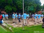 Pendukung Paslon Mulai Datangi Lapangan Bidakara untuk Nobar Debat