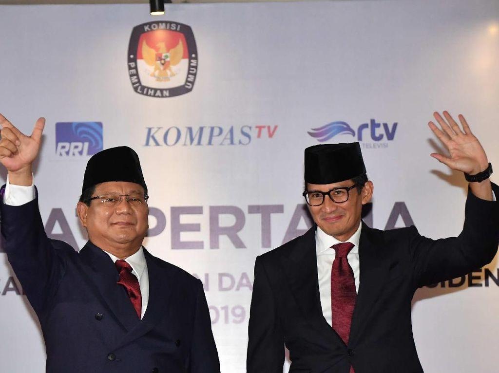 Kala Prabowo Coba Menyela Pertanyaan Jokowi, Joget Kecil Lalu Dipijit Sandi