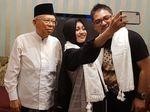 Jelang Debat, Maruf Amin Kedatangan Penyanyi Religi Veve Zulfikar