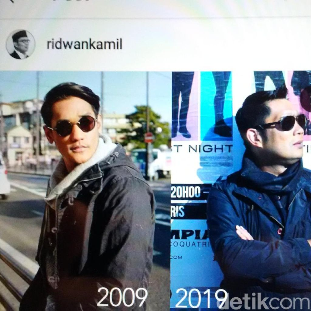 Ramaikan 10 Years Challange, Ridwan Kamil Malah Pajang Wajah Afgan