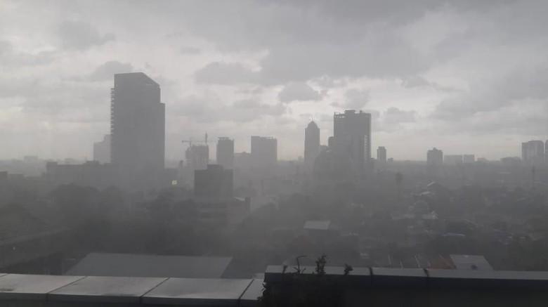 ilustrasi Hujan lebat di jakarta