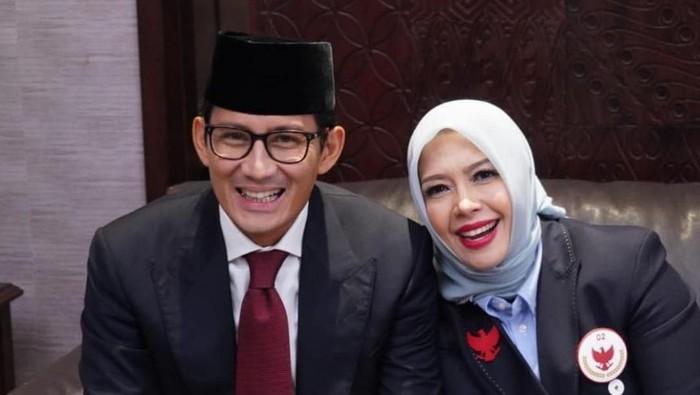 Sandiaga Uno dan Nur Asia jelang debat pilpres 2019