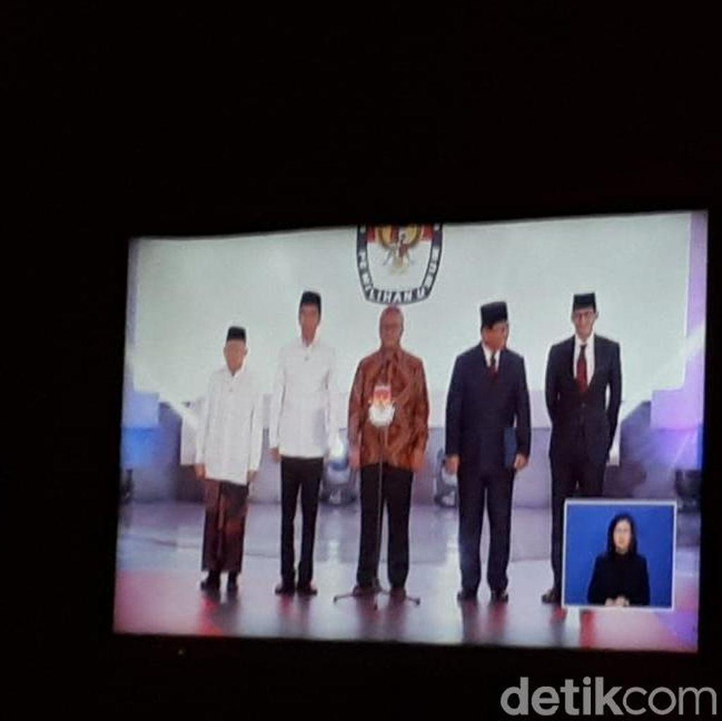 Ketua KPU Panggil Jokowi-Maruf dan Prabowo-Sandi ke Panggung Debat