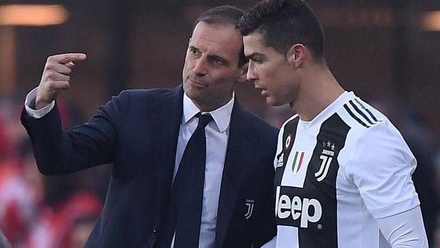 Cristiano Ronaldo disebut sempat kesal karena Massimiliano Allegri dinilainya keliru dalam menerapkan strategi. (