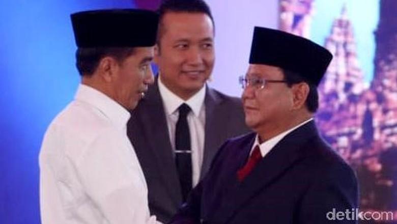 Real Count KPU 34%: Jokowi-Amin 56,11% Prabowo-Sandi 43,89%