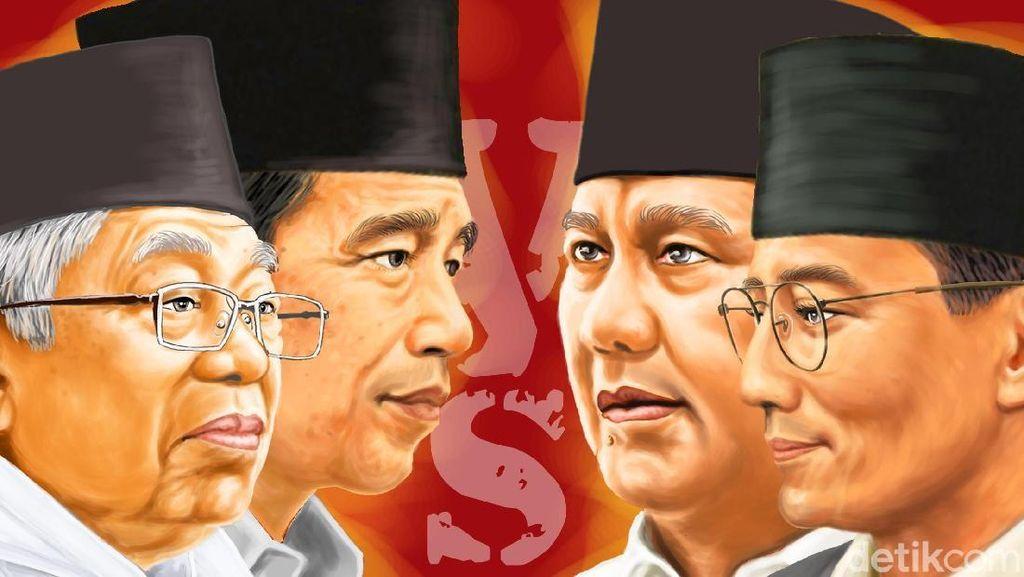 Peta Jokowi vs Prabowo di Luar Negeri