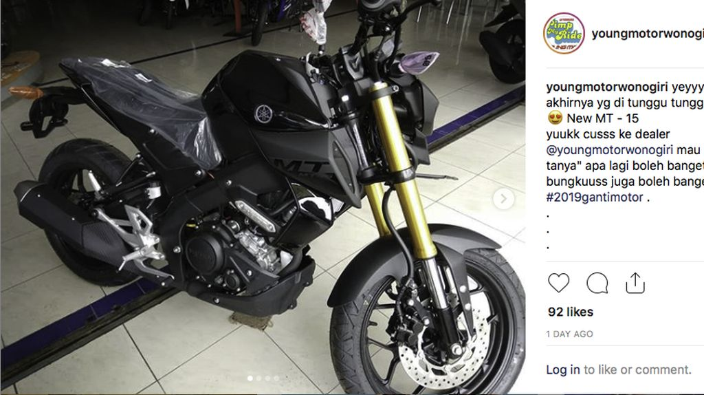 Yamaha MT-15 Sudah Masuk Indonesia?