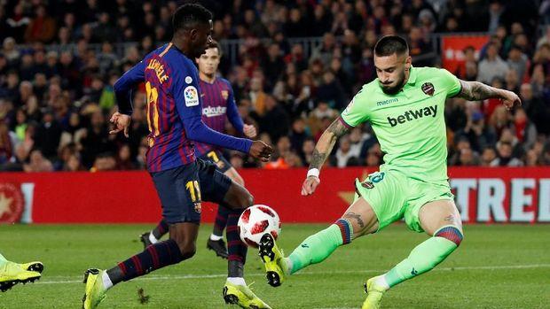 Barcelona menang agregat 4-2 atas Levante di babak 16 besar Copa del Rey.