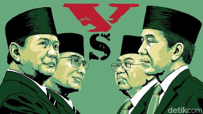 Survei LSI Denny JA: Selisih Elektabilitas Jokowi dan Prabowo 20%