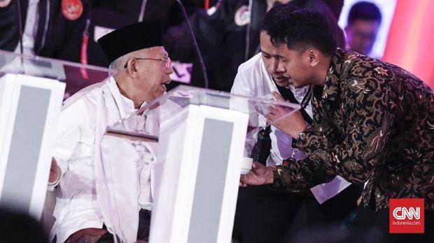 Tim Jokowi: Ma'ruf Lebih Jago Debat Ketimbang Sandiaga