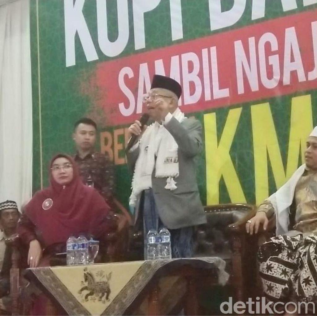 Maruf: Saya dan Jokowi Harus Menang, Kalau Tak Menang Innalillahi