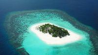 Panorama yang setiap hari dilihat Andrew Farr (Trans Maldivian Airways)