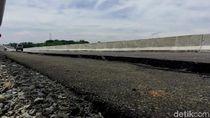 Tol Pemalang-Batang KM 321 Retak, Pondasi Penahan Jalan Longsor