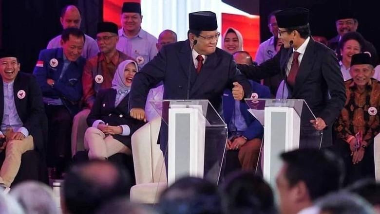 Gerindra: Gestur Joget dan Pijat Prabowo-Sandiaga Spontanitas