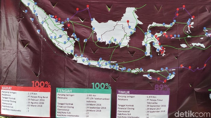 Palapa Ring turut disebut-sebut dalam Debat Pilpres 2019. (Foto: Agus Tri Haryanto/detikINET)