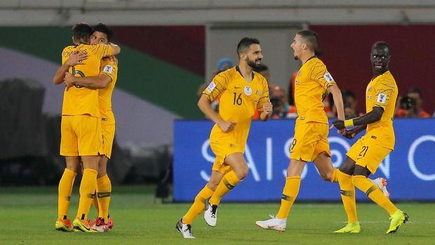 Australia sebagai juara bertahan Piala Asia melawan Kirgistan di babak gugur.