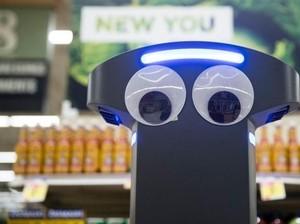 Robot Lucu Ini Berkeliling di Supermarket untuk Bantu Layani Pembeli