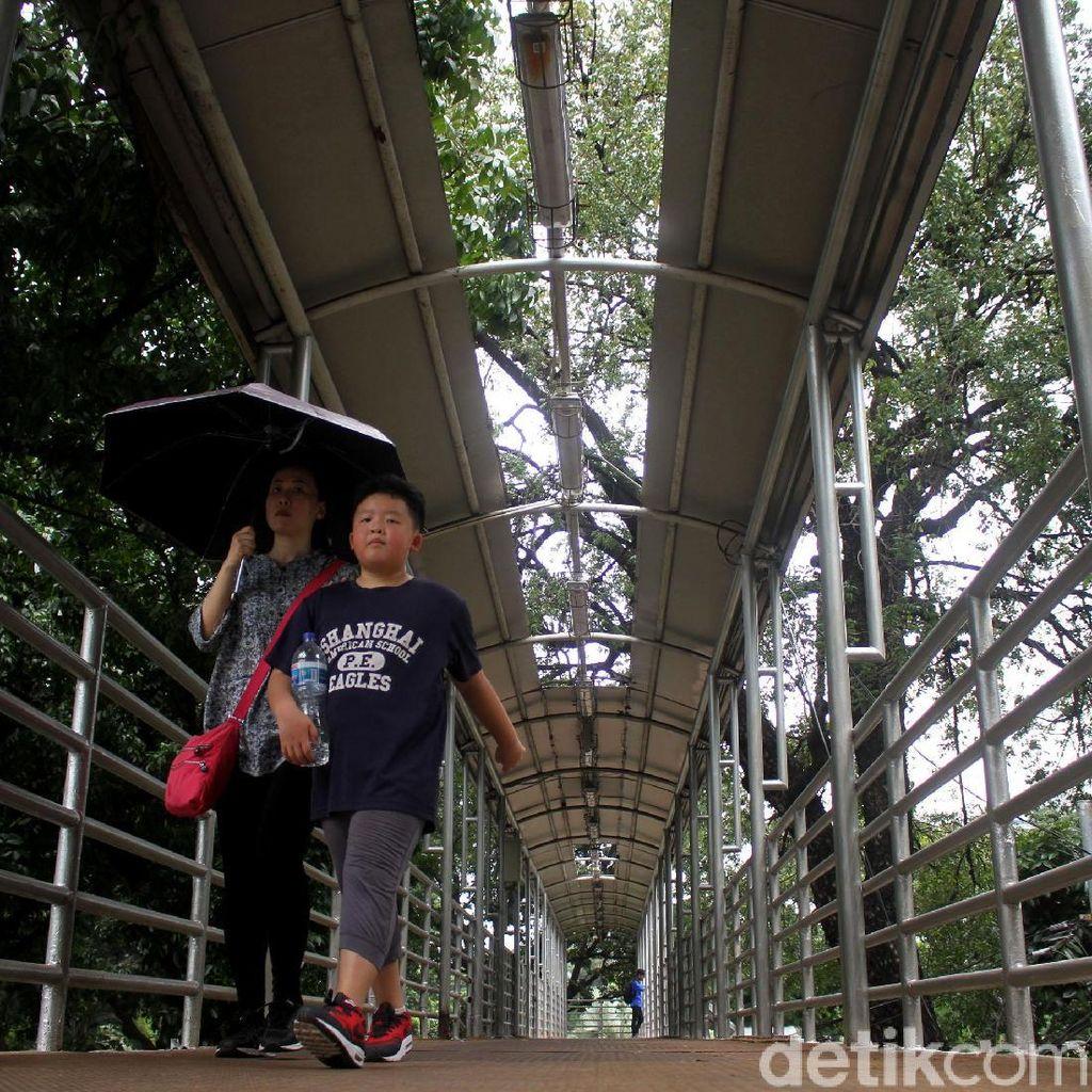 Miris, JPO di Jalur Protokol Jakarta Rusak dan Tak Terawat
