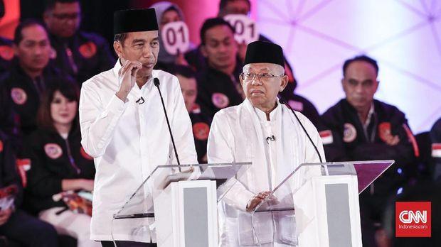 Ma'ruf Hening Saat Debat, Enggan Balapan Bicara dengan Jokowi