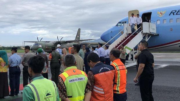 Jokowi selanjutnya akan naik kereta api ke Garut.