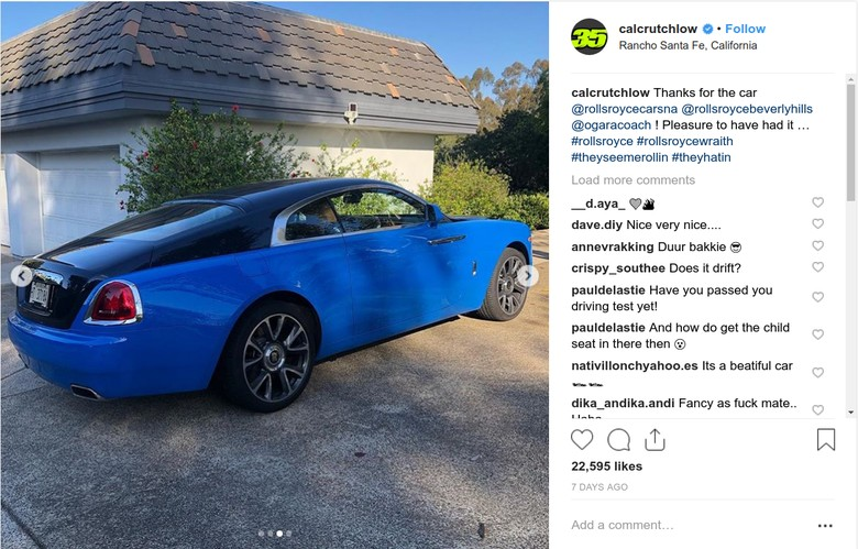 Cal Crutchlow Pamer Mobil Baru. Foto: Instagram