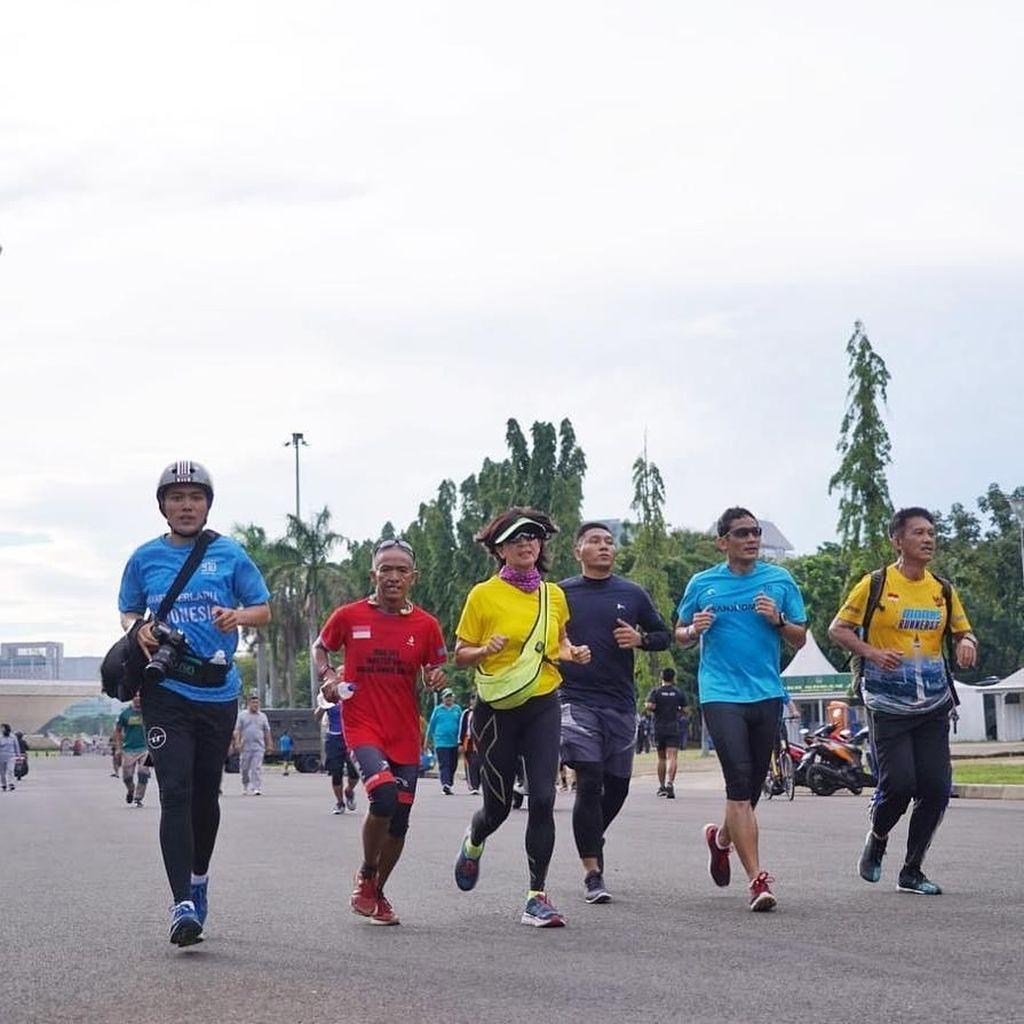 Usai Debat, Sandiaga Olahraga Sebelum ke Sukabumi