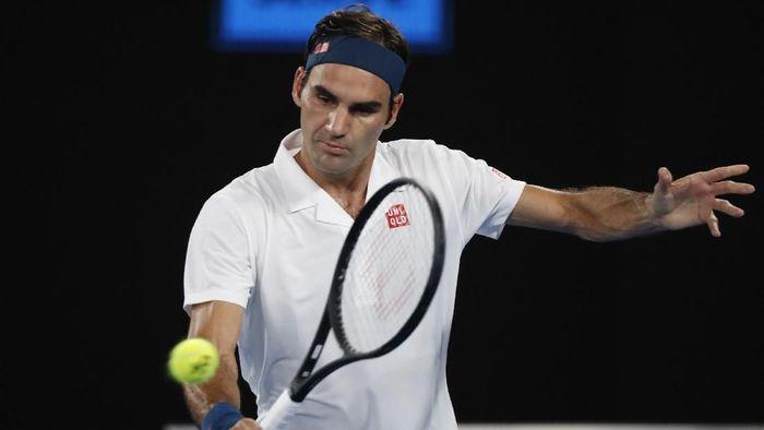 Roger Federer melangkah ke babak 16 besar Australia Terbuka 2019 (Foto: Aly Song/Reuters)