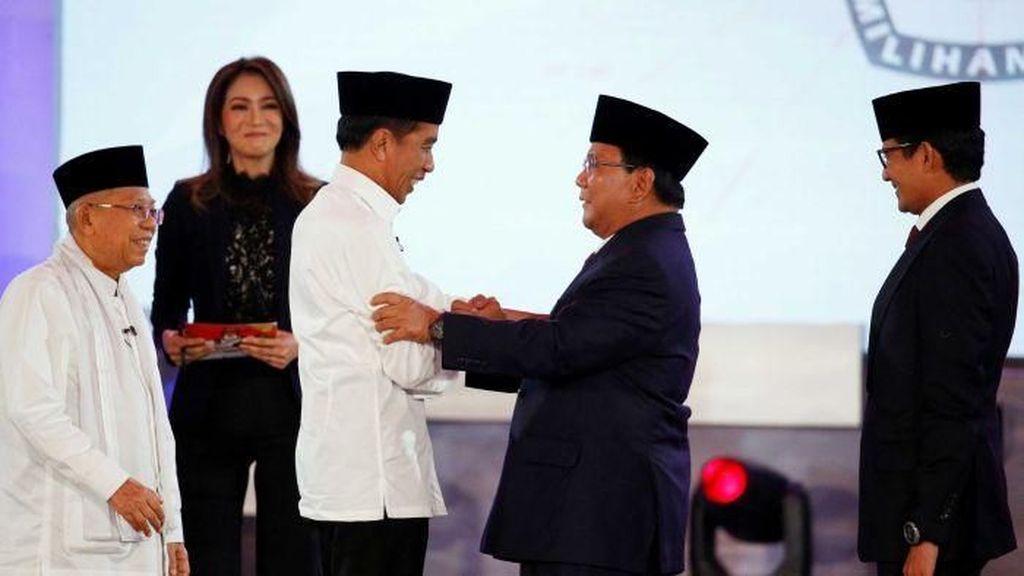 TKN Jokowi Vs BPN Prabowo soal Jarak 11,8% di Survei