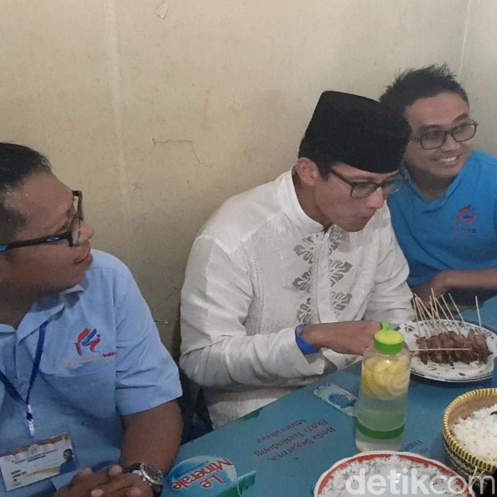 Makan Sate yang Pernah Disantap Jokowi, Sandi: Semoga Dapat Rejekinya