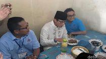 Makan Sate yang Pernah Disantap Jokowi, Sandi: Semoga Dapat Rezekinya
