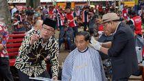 Tentang Herman, Tukang Cukur Rambut Jokowi di Garut yang Disorot Lawan