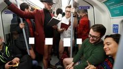 Bulan Januari dianggap bulan yang membosankan dan paling rentan depresi. Warga London baru-baru ini melakukan kampanye copot celana untuk mencegah stres.