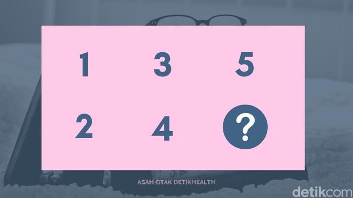 Bonus! Apa jawaban untuk tanda tanya berikut ini? Petunjuknya: bukan angka enam! (Foto: detikHealth)