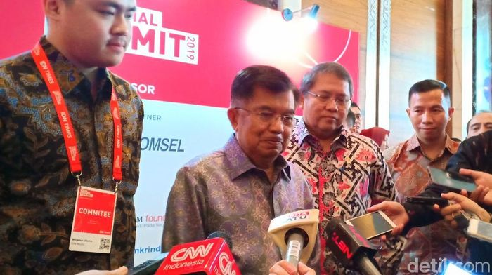 Wakil Presiden Jusuf Kalla (JK)/Foto: Eduardo Simorangkir/detikFinance