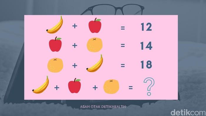 Perhitungan matematika yang walau terlihat sederhana, namun bisa menjebak. Tantang logikamu, berapa jawabannya? (Foto: detikHealth)