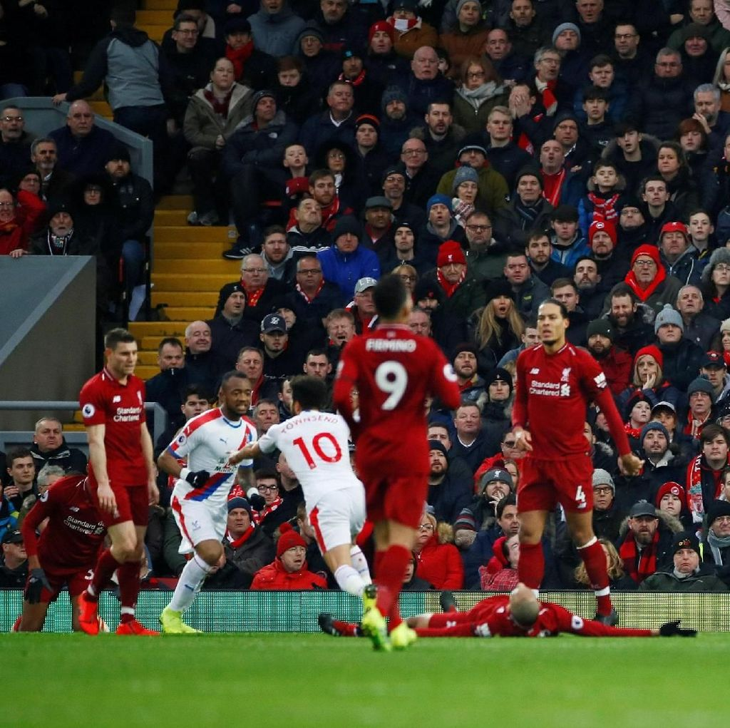 Liverpool Tertinggal 0-1 dari Palace di Babak Pertama