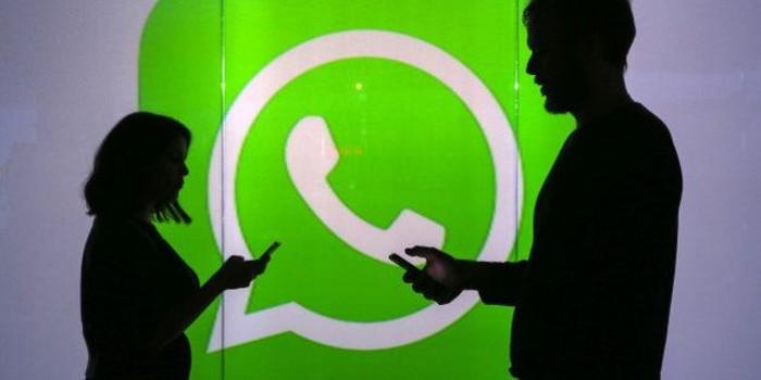 Lambang WhatsApp. Foto: Chris Ratcliffe/Bloomberg