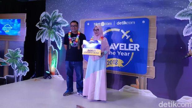 Ivone, ibu anak satu yang berhasil jadi d'Traveler of The Year 2018