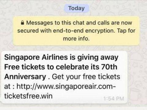Waspada Penipuan di WhatsApp, Semisal Dapat Tiket Pesawat Gratis