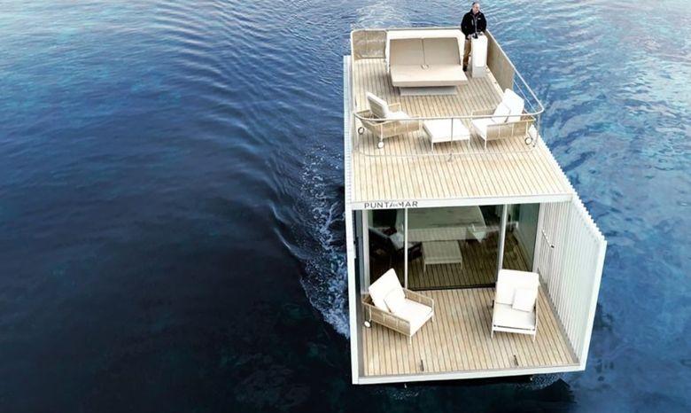 Kamar hotel ini diberi nama Punta de Mar Marina yang didukung oleh energi matahari. Istimewa/inhabitat.com.